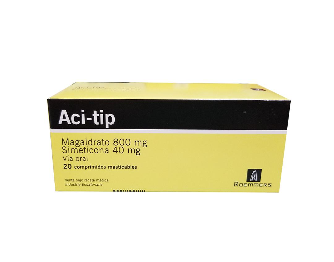 Aci-Tip 800Mg/40Mg Comprimidos Masticables